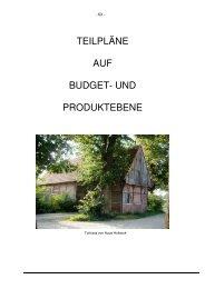 Haushalt Teilpläne Produkte 1-33 - in der Gemeinde Rosendahl
