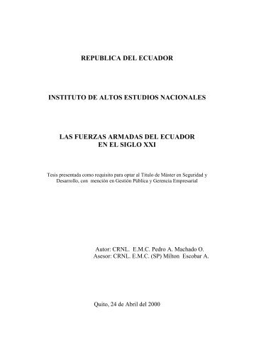 MACHADO PEDRO 2000.pdf - Repositorio Digital IAEN