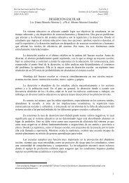Desercion escolar - Revista Internacional de Psicología