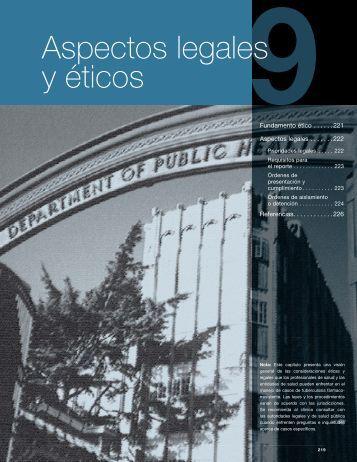 Capítulo 9. Aspectos legales y éticos