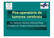 Pós-operatório de tumores cerebrais - Dr. Salomón S ... - ineti