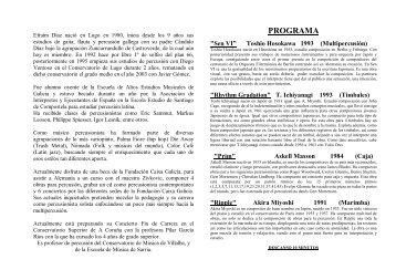 Programa Fin de Carrera - Infopercusion.es