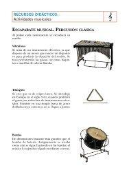 Percusión clásica - CEIP Juan Herrera Alcausa