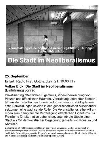 Die Stadt im Neoliberalismus - Rosa-Luxemburg-Stiftung