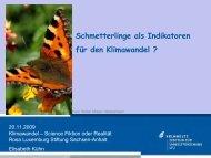 Schmetterlinge als Indikatoren für den Klimawandel Elisabeth Kühn ...