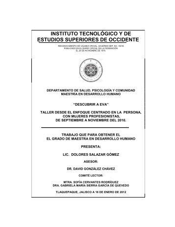 INSTITUTO TECNOLÓGICO Y DE ESTUDIOS ... - Cursos ITESO