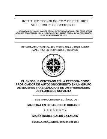 INSTITUTO TECNOLGICO Y DE ESTUDIOS ... - Cursos ITESO