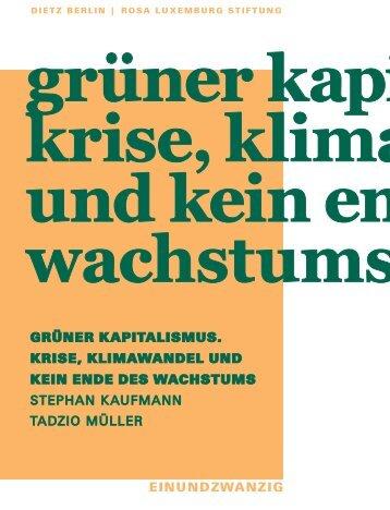 Grünen Kapitalismus - Rosa-Luxemburg-Stiftung