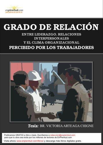 GRADO DE RELACIÓN