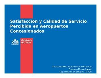 Satisfacción y Calidad de Servicio Percibida en Aeropuertos ... - Mop