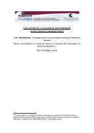 EVALUACIÓN DE LA CALIDAD DE VIDA PERCIBIDA EN ...