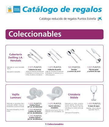 Catálogo de regalos Coleccionables - la Caixa