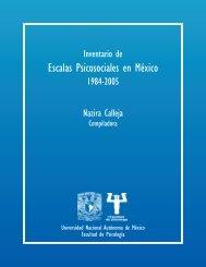 Escalas Psicosociales en México - Facultad de Psicología ...