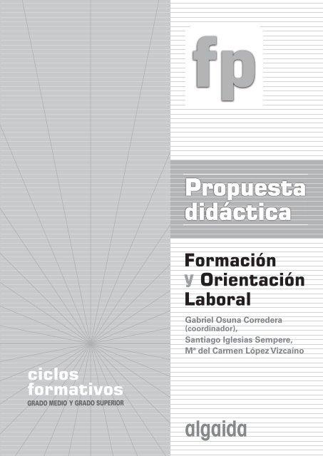 Propuesta Didáctica P D Formación Y Orientación Laboral