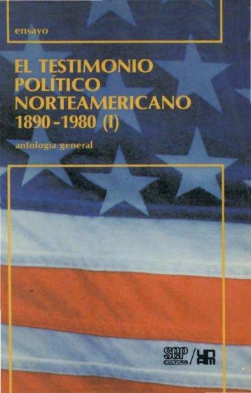 El testimonio político norteamericano 1890-1980 (1) - Centro de ...