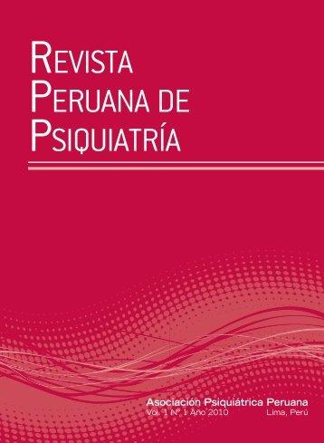 Descargar texto completo en PDF - Asociación Psiquiátrica Peruana