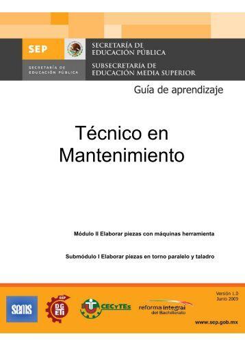 Técnico en Mantenimiento - Cecyte