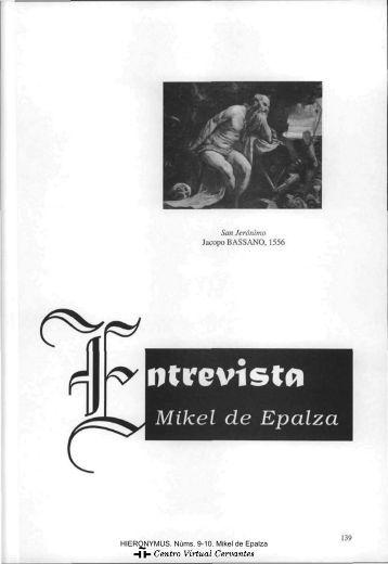 Mikel de Epalza - Centro Virtual Cervantes