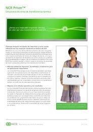 NCR Prism: Thermal Transfer Ribbons Datasheet - Spanish