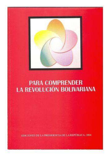 para comprender la Revolución Bolivariana - Ministerio del Poder ...