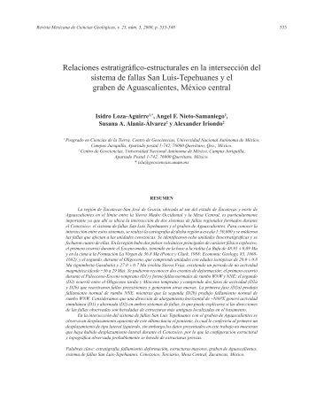 Relaciones estratigráfico-estructurales en la intersección ... - SciELO