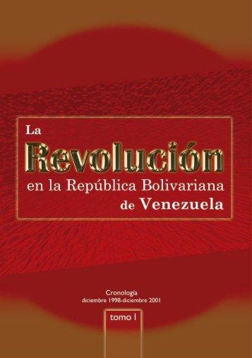 La Revolución Bolivariana Tomo I - MinCI