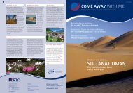 SULTANAT OMAN - RTC Rose Travel Consulting