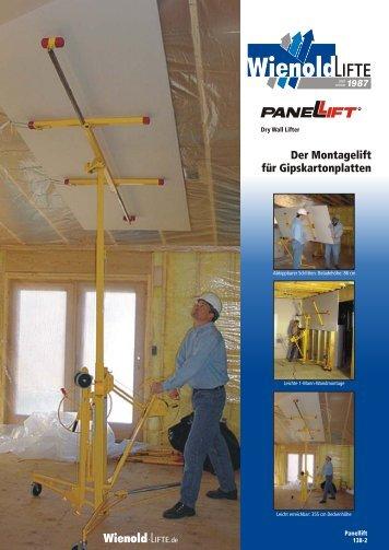 Der Montagelift für Gipskartonplatten - O. Rosinski GmbH