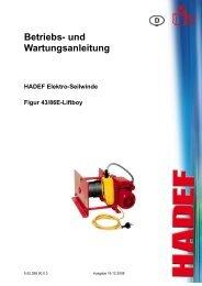 Bedienungsanleitung - O. Rosinski GmbH