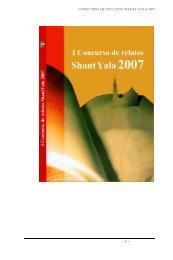 CONCURSO DE RELATOS SHANT-YALA 2007 - Santaella