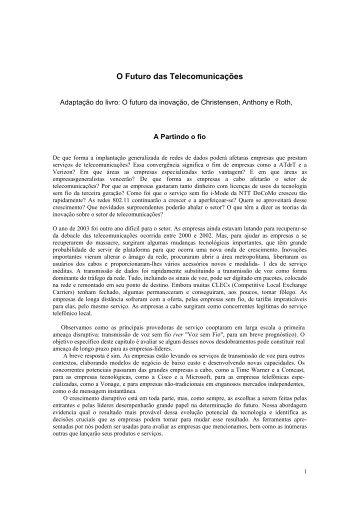 O futuro das telecomunicações.pdf - Trabalho Colaborativo IE - home