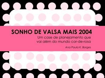 SONHO DE VALSA MAIS 2004