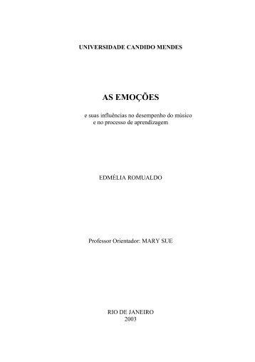 AS EMOÇÕES - AVM Faculdade Integrada