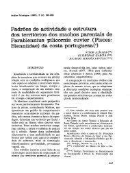 Padrões de actividade e estrutura dos territórios dos machos ...