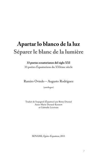Séparer Le Blanc De La Lumière Rémy Durand