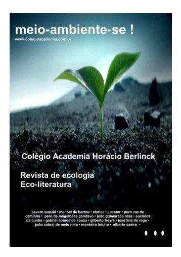 Revista Meio-ambiente-se - Colégio Academia