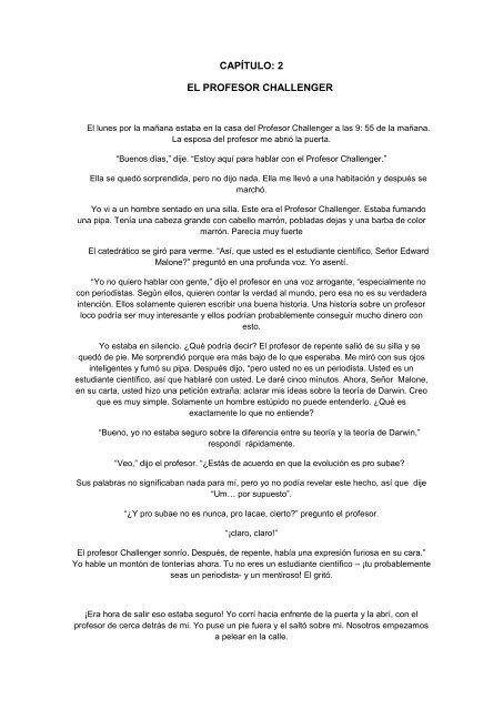 Capítulo 2 El Profesor Challenger Santa Joaquina De Vedruna