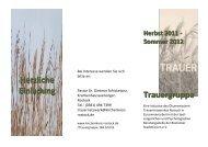 Herzliche Einladung Trauergruppe - Rostocker Stadtmission eV