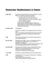 Rostocker Stadtmission in Daten - Rostocker Stadtmission eV