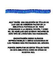 NOVELAS INPRESCINDIBLES DE CIENCIA FICCION finalx