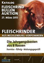 Fleischrindbullen-Auktion am 27. März 2013 in 19395 Karow ...