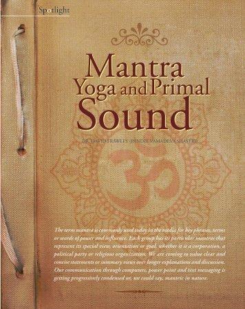 Primal Yoga and Primal Yoga and - Ayurveda