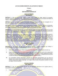 ley de hacienda municipal - Tribunal Superior de Justicia de Tabasco