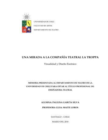 una mirada a la compañía teatral la troppa - Tesis Electrónicas ...