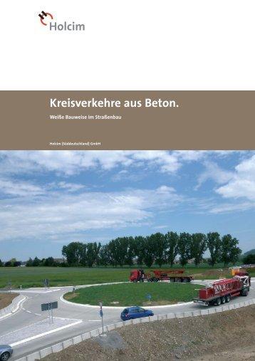 Kreisverkehre aus Beton.