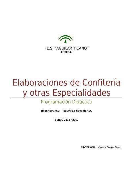 Elaboraciones De Confitería Y Otras Junta De Andalucía