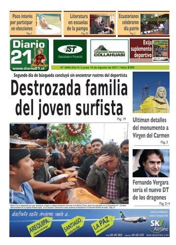 15 de Agosto de 2011 - Diario 21