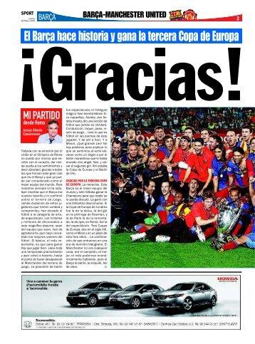 El Barça hace historia y gana la tercera Copa de Europa