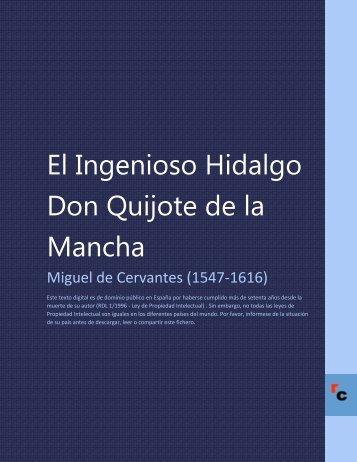 El Ingenioso Hidalgo Don Quijote de la Mancha - Descarga Ebooks
