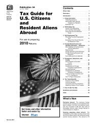 Tax Guide for U.S. Citizens and Resident Aliens Abroad